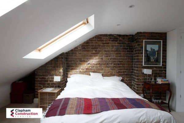 visible brick guest bedroom loft conversion