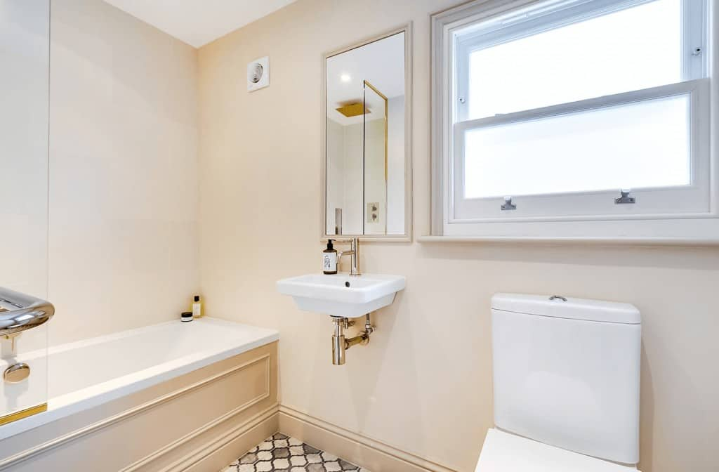 completed loft conversion of bathroom