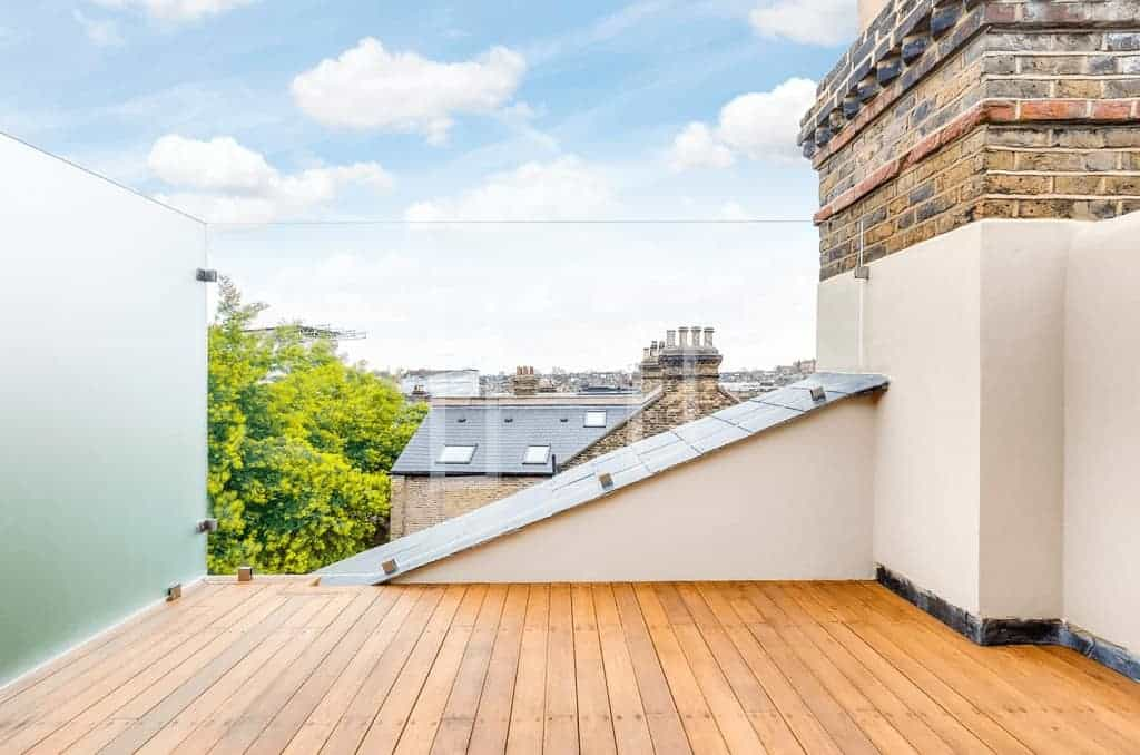 completed loft extension with rooftop terrace
