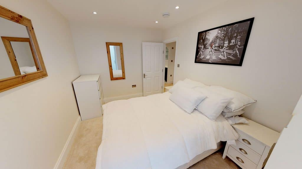 completed loft conversion second guest bedroom