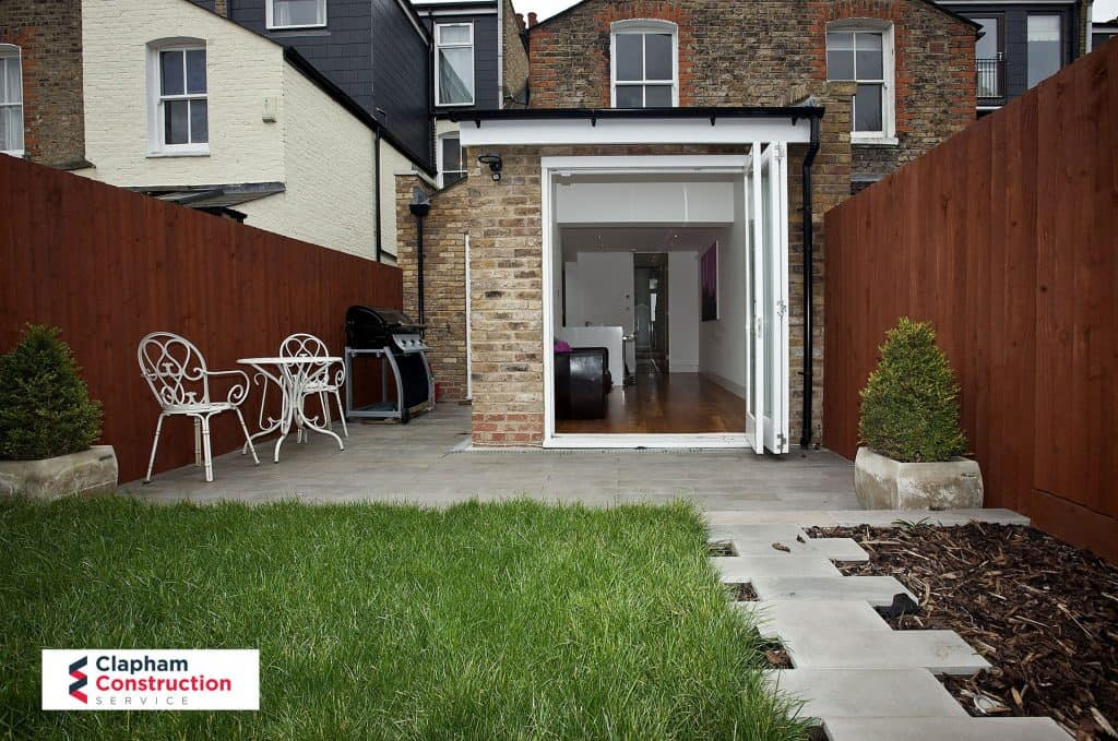 home extension garden bifolding doors