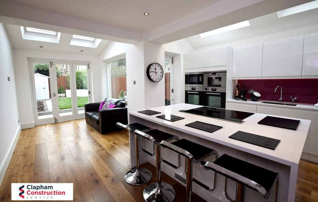completed home extension kitchen refurb