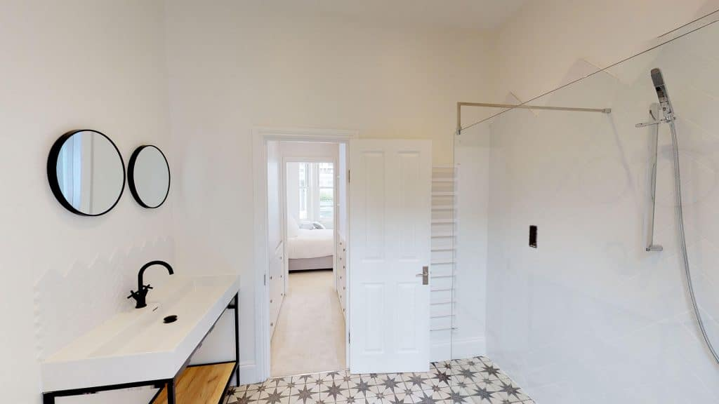 completed home extension basement washroom