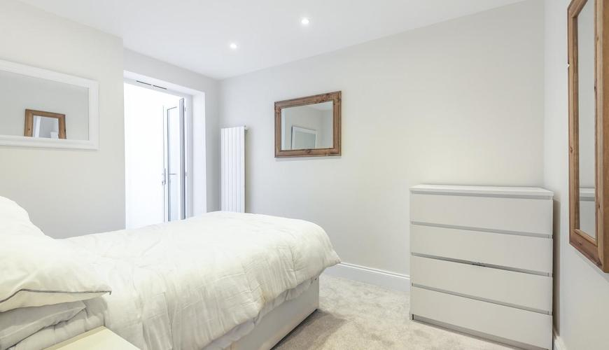 completed bedroom home extension white carpet