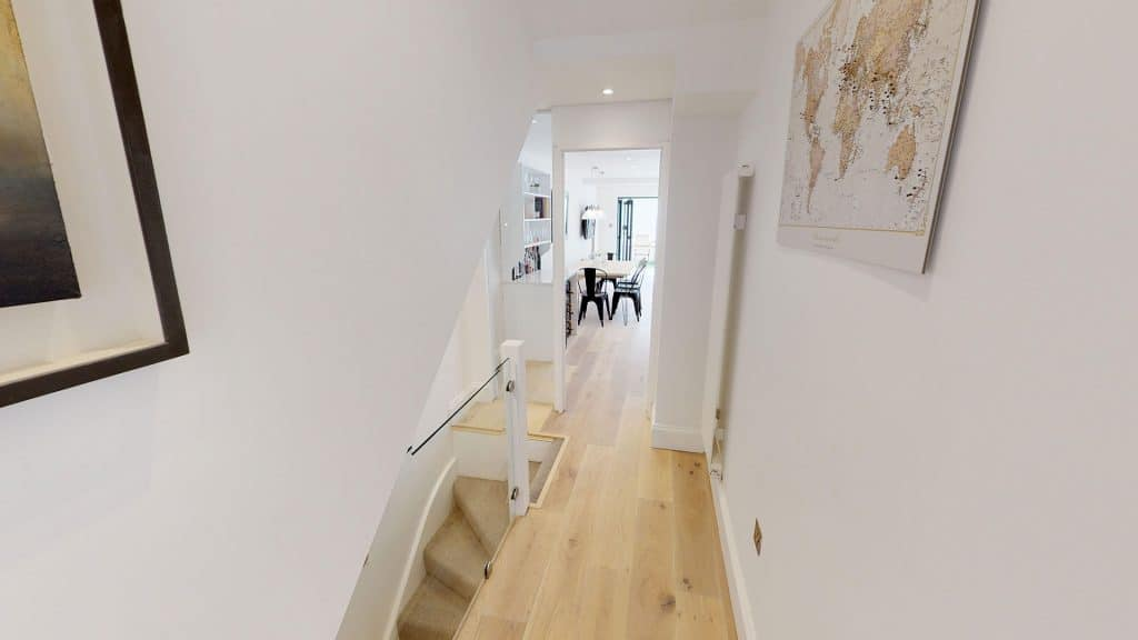 completed loft conversion for basement and basement stairs
