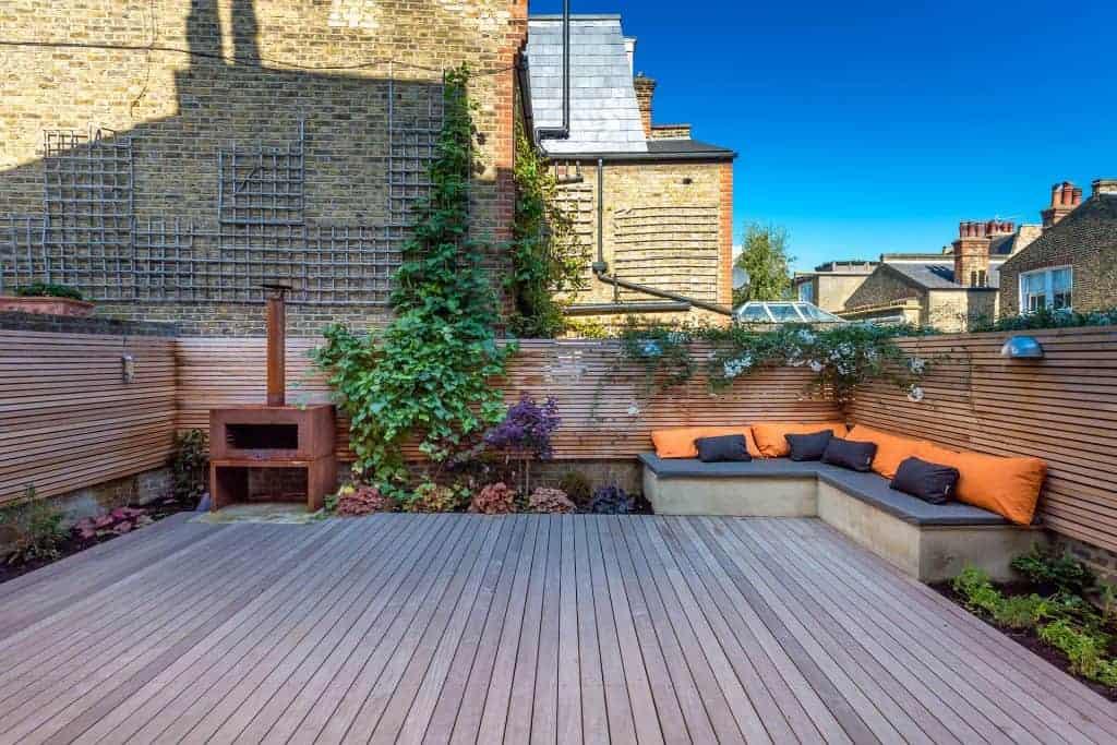 home extension garden decked
