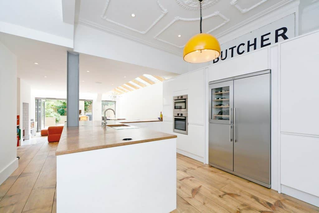 completed home extension kitchen butcher