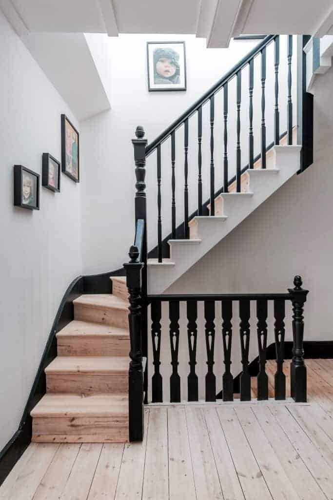 completed loft conversion staircase black