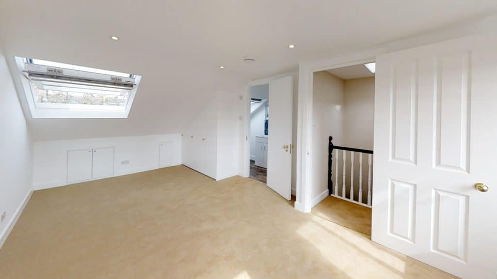 completed loft conversion with landing and ensuite