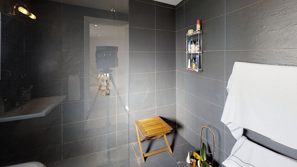 completed loft conversion bathroom design