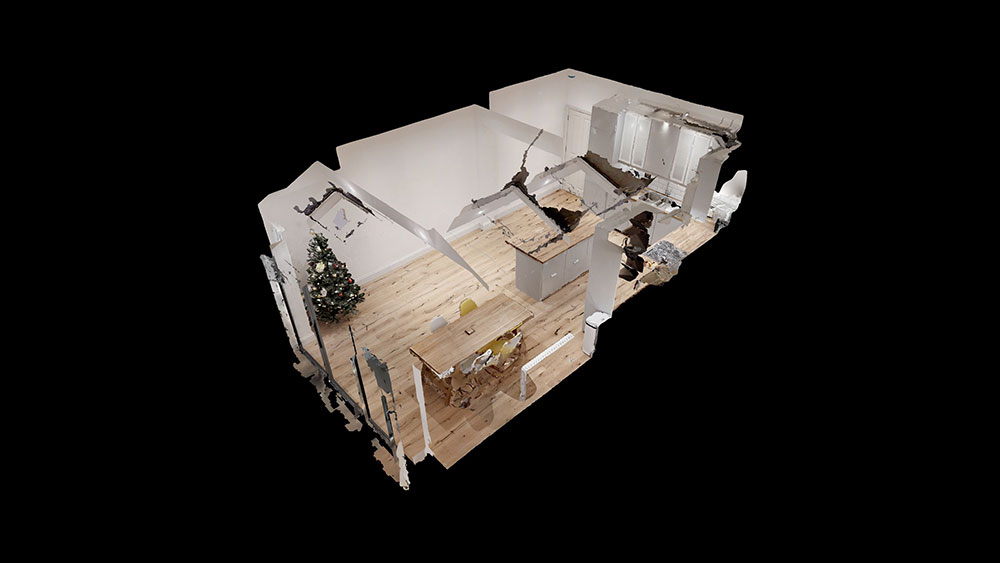 3d view of completed loft conversion apartment