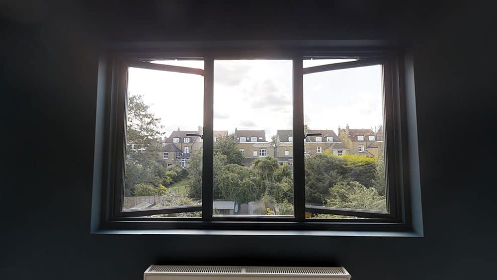completed loft conversion window view