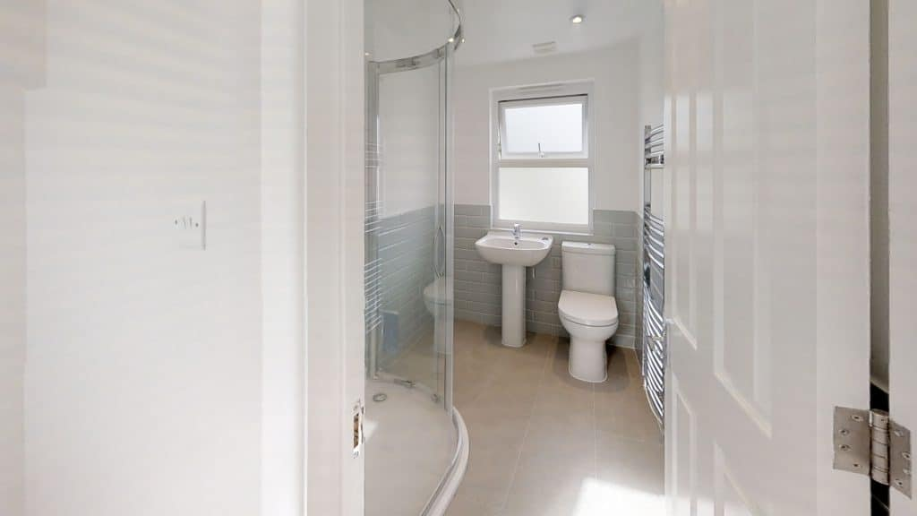 completed loft conversion big shower