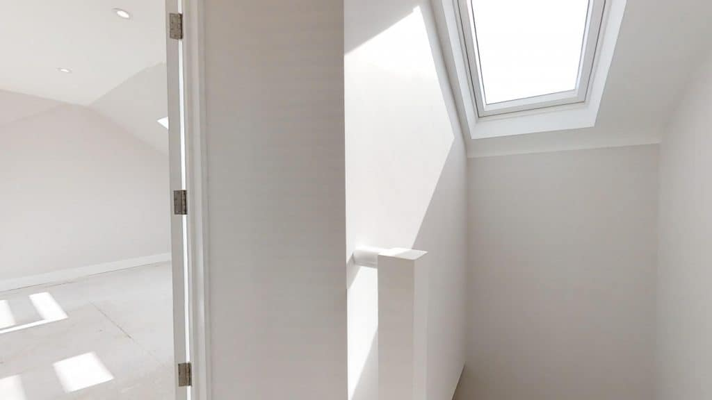 completed loft conversion with landing skylight