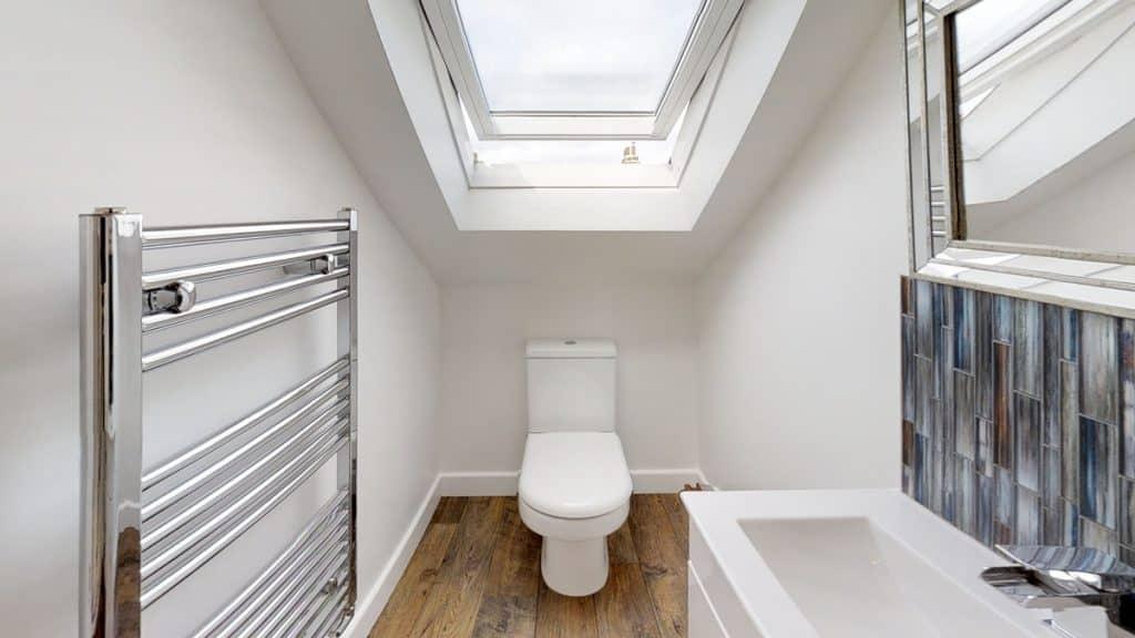 completed loft conversion ensuite