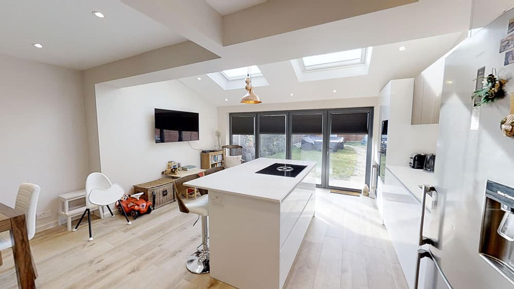 open kitchen diner home extension