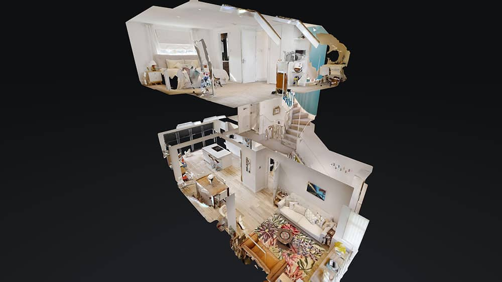 3d completed view of apartment loft conversion