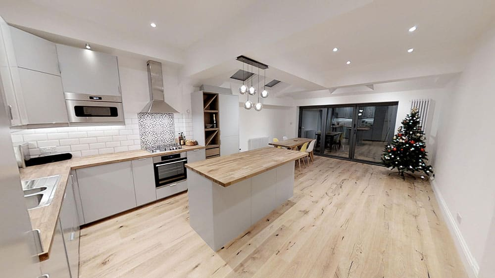 completed kitchen diner home extension