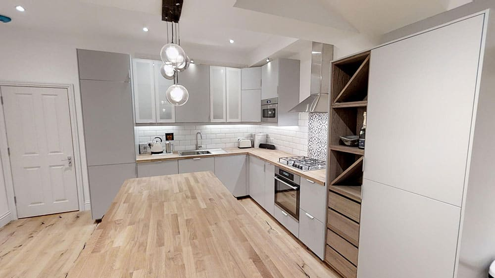 completed loft conversion kitchen