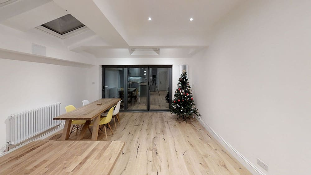 completed home extension Christmas