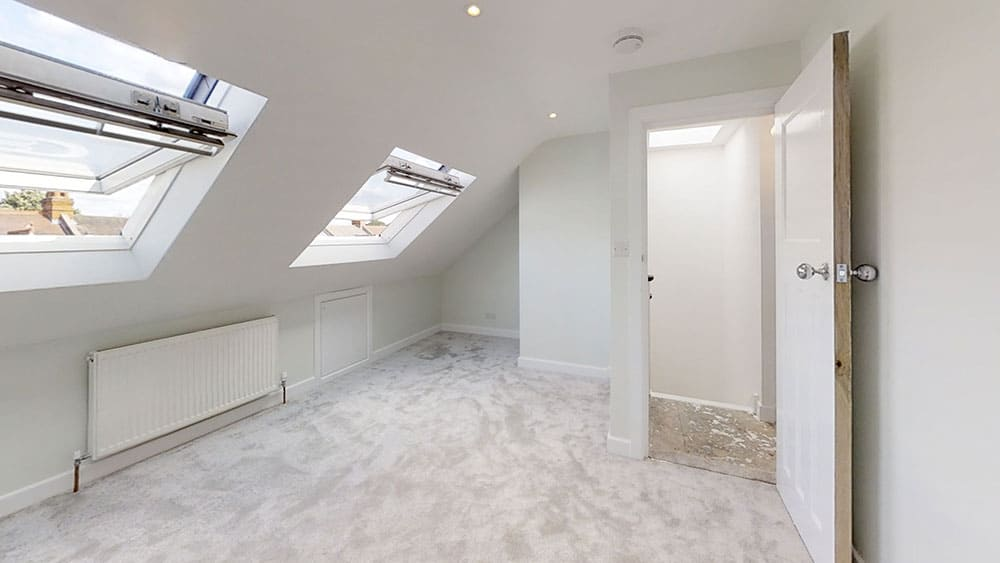 clapham loft conversion all white 2