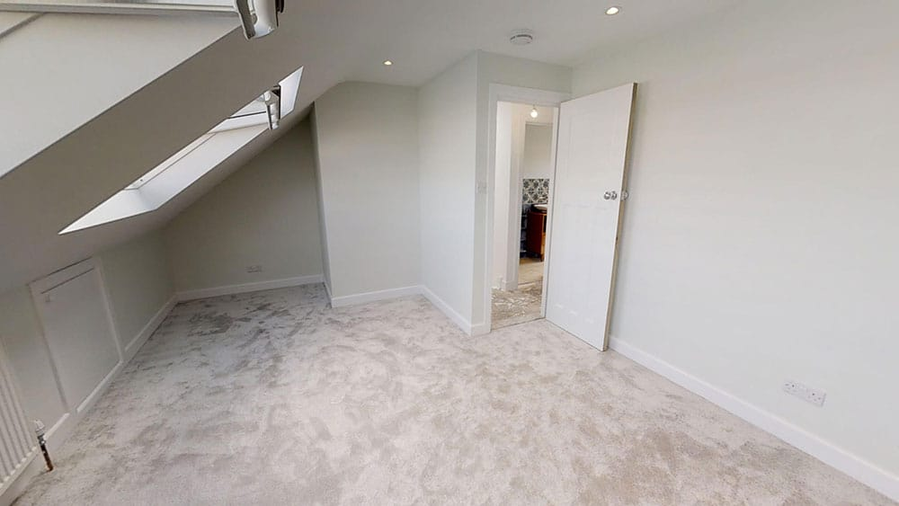 completed loft conversion bedroom 1
