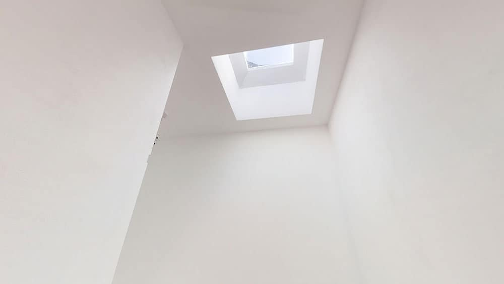 completed loft conversion sky light
