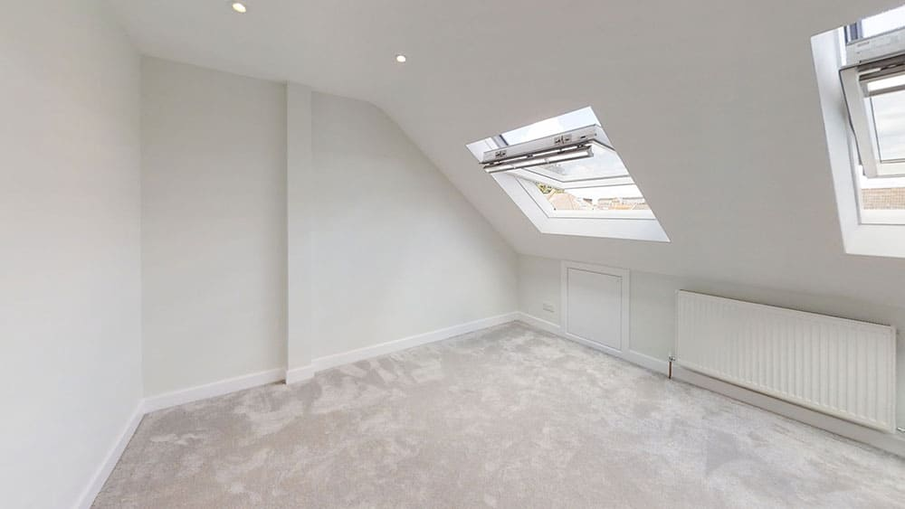 completed loft conversion all white