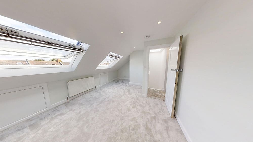 completed loft conversion wide skylight