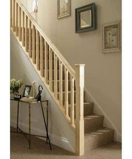 Detail of light oak staircase