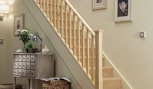 Light oak staircase