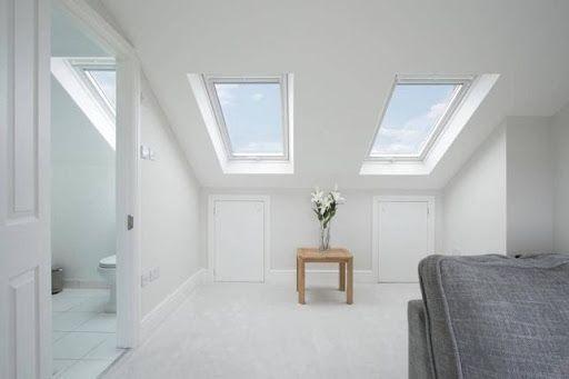 interior of loft conversion with ensuite