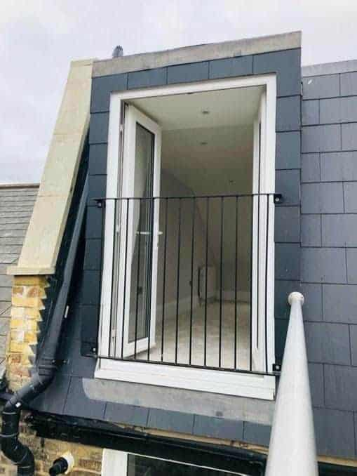 Outside view of loft conversion